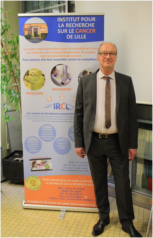 Philippe Delannoy directeur de l'IRCL Institut pour la recherche sur le cancer de lille