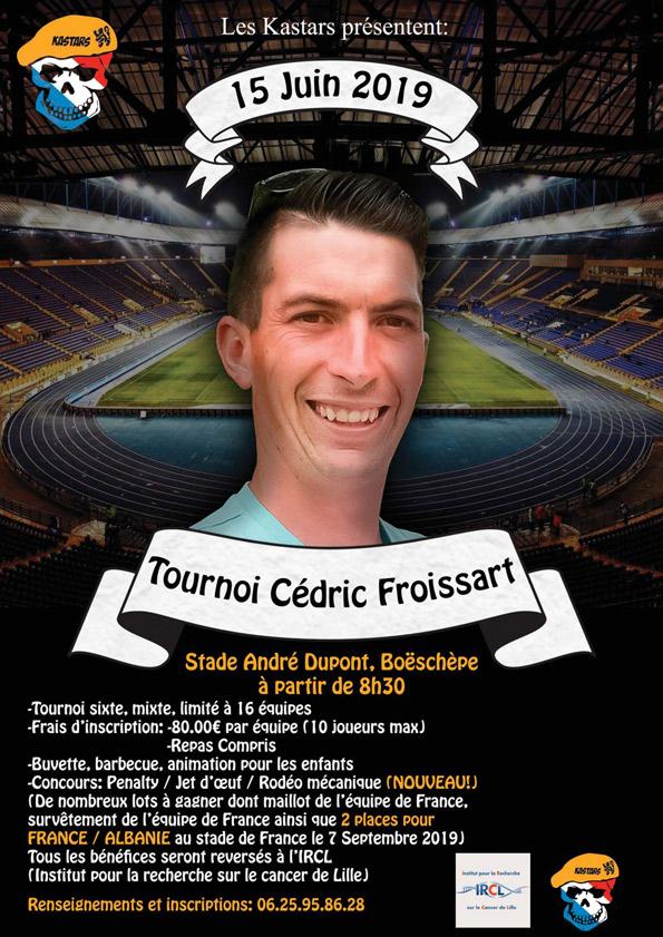 affiche tournoi de football organisé par l'association Les KASTARS au stade André Dupont Boeschepe le 15 juin 2019